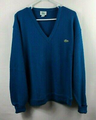Vtg Izod Lacoste Men's Sz XL Blue Acrylic Sweater