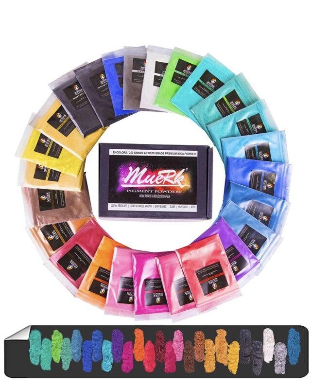 Epoxy Resin Dye 3pk Mica Powder Pure Color Pigment Eyeshadow and Lips Makeup Dye