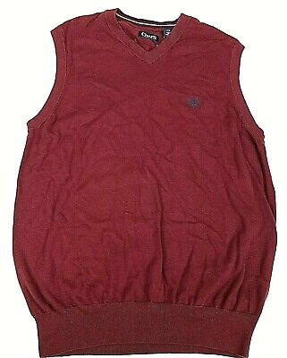 Chaps Sweater Vest Mens Size LT Red $54 NEW Big & Tall
