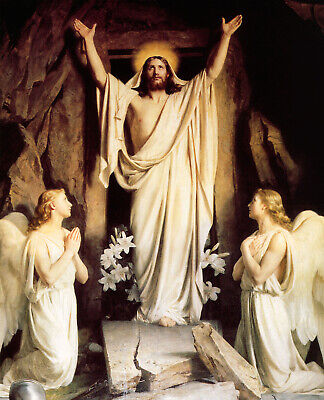 JESUS CHRIST EASTER RESURRECTION 8X10 PHOTO PICTURE CHRISTIAN ART