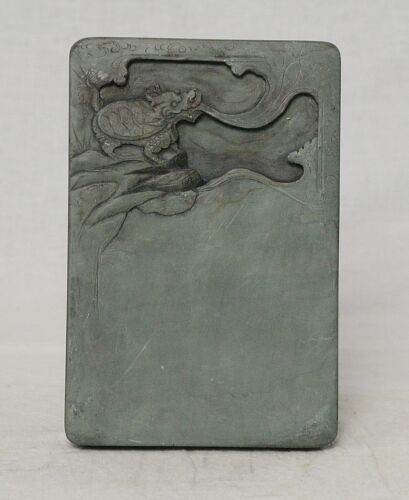 Chine  Carved  Celadon  Ink  Stone    M3638