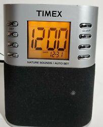 Timex T307S Dual Alarm Clock Radio Nature Sounds Preset Tuning
