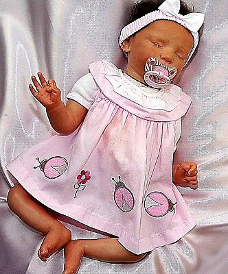 süßes 3 tlg.  Baby Mädchen Sommer Kleid Marienkäfer Gr.56,62,68