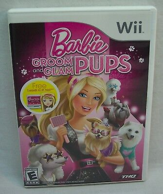 Barbie: GROOM AND GLAM PUPS Nintendo Wii Game 2010