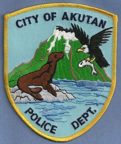 AKUTAN ALASKA POLICE SHOULDER PATCH