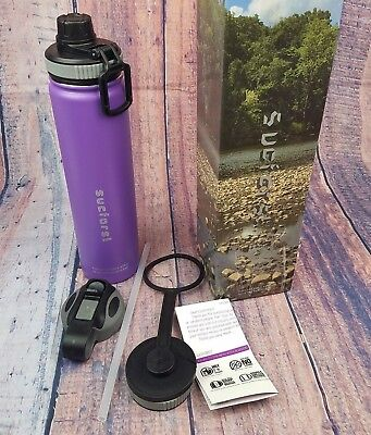 SUCFORST Water Bottle 2 Extra Accessories Vacuum Insulated Stainless Steel Mug