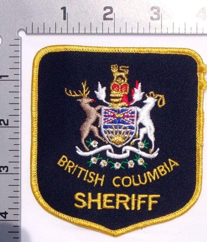 British Columbia Canada Sheriff Shoulder Patch