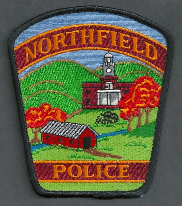 NORTHFIELD VERMONT POLICE SHOULDER PATCH COVERED BRIDGE