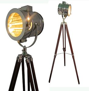 retro marine floor lamp nautical studio light tripod floor lamps. Black Bedroom Furniture Sets. Home Design Ideas