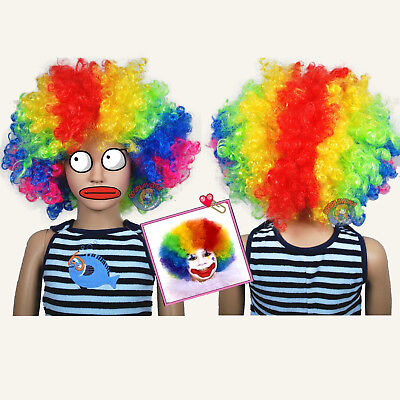 Jumbo Unisex Rainbow Afro Children Halloween Wigs (fits from toddlers to - Toddler Wigs