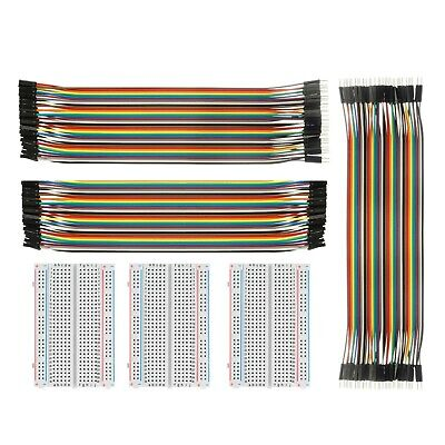 Breadboard Solderless with Jumper Cables– ALLUS BB-018 3Pc 400 Pin Protot... New