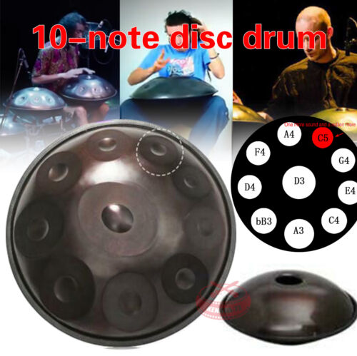 "22"" 10 Notes Professional Hand Pan Handpan Drum Handmade Good Sound New"