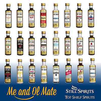 STILL SPIRITS TOP SHELF SPIRIT ESSENCES ANY 10 OF CHOICE HOME BREW SPIRIT MAKING