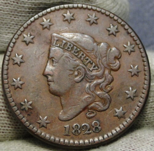 1828 Penny Coronet Large Cent - Nice Coin, Free Shipping  (8473)