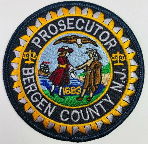 "Bergen County Prosecutor New Jersey NJ District Attorney Patch 3"" C2"
