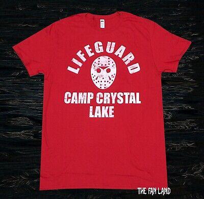New Friday the 13th Lifeguard Jason Camp Crystal Lake Men's T-Shirt](Camp Crystal Lake)