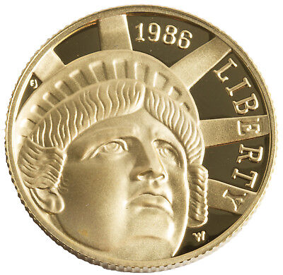 1986-W Statue of Liberty $5 PRF Gold Commemorative