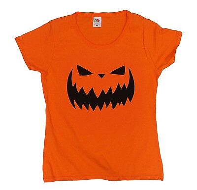 Jackolantern Jack-o-lantern Scary Halloween Pumpkin t shirt, womens, cotton