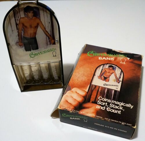 EXTREMELY RARE Vintage CHIPPENDALES Bank with Box (COLLECTORS