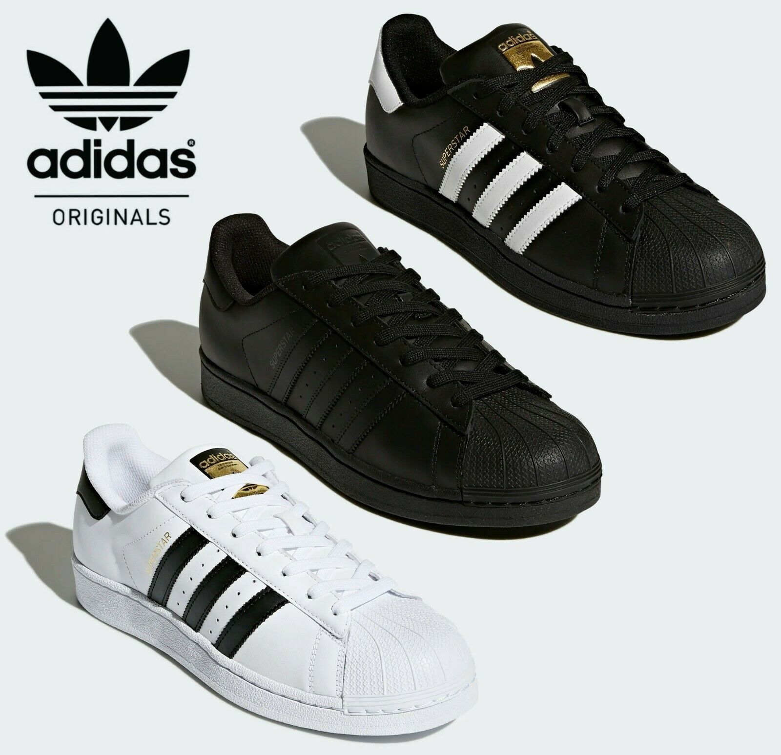 ded7ce67d7 Details about ✅ 24Hr DELIVERY ✅ Adidas Superstar Foundation Originals Retro  Shell Toe Trainers