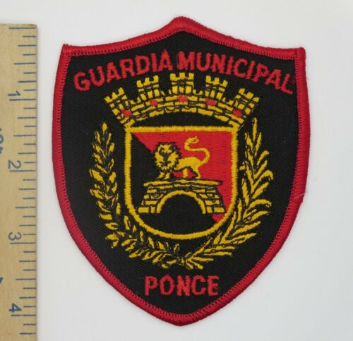 PONCE PUERTO RICO POLICE PATCH GUARDIA MUNICIPAL Original Vintage