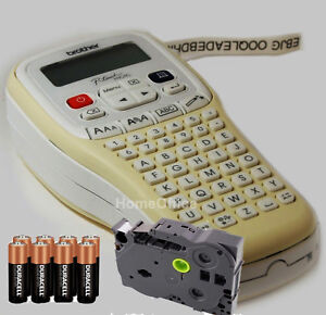 Brother Hand Held Label Maker Labelling Print Machine + Tape + Batteries H101c