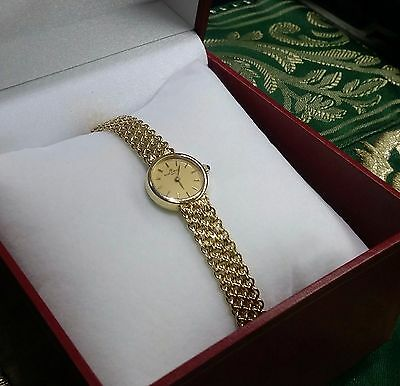 "Vintage Elegant BAUME & MERCIER Lady's 14K Solid Gold Wrist Watch 7"" Long"