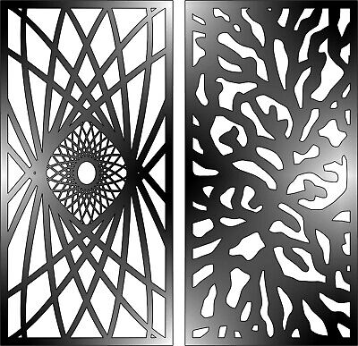 Cut Panel (DXF-CDR of PLASMA LASER AND ROUTER Cut -CNC PANEL ART 004 )