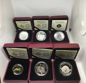 Royal Canadian Mint Fine Silver Coins