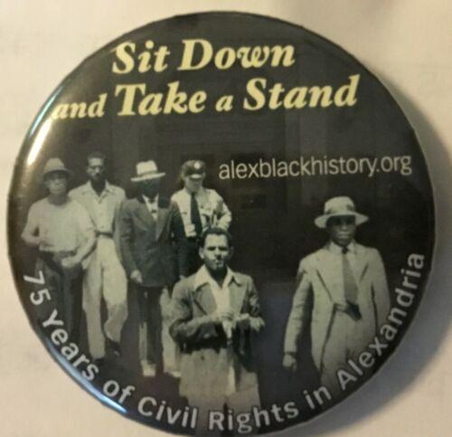 Nice Alexandria, VA Civil Rights button - Black Americana