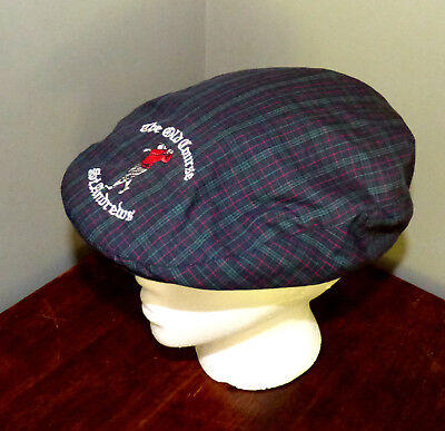 9b777afe186 ST ANDREWS ~ THE OLD COURSE    Tartan Plaid Lightweight Golfing Cap L