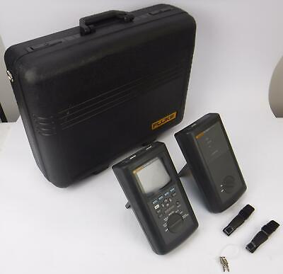 Fluke Dsp-2000 Cable Analyzer W Fluke Dsp-2000sr Smart Remote Case Tested
