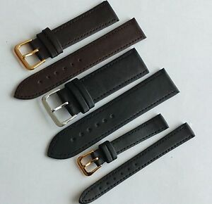 Black-Brown-Genuine-Leather-Watch-Strap-Band-Sizes-6-8-10-12-14-16-18-20-22-24mm