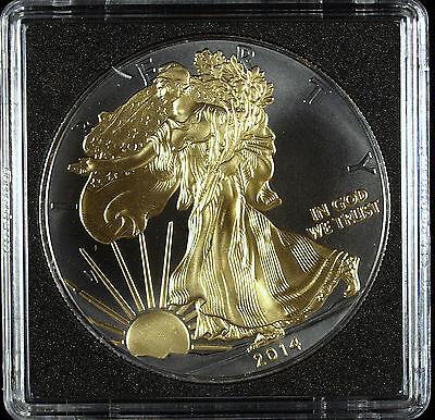 2014 Golden Enigma Walking Liberty 1 Oz Silver Eagle Ruthenium Great Details!!!!