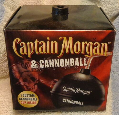 Captain Morgan Cannonball Cup - Party Cup - Plastic Cannonball with Top....NEW