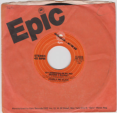 """CHARLY McCLAIN~Lay something on my bed/Love me 'til the morning comes~US Demo 7"""""""