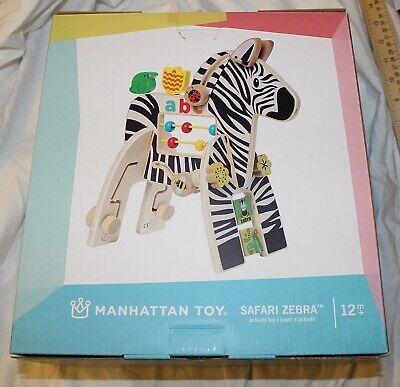 Manhattan Perlen (Neu Manhattan Toy Safari Zebra Holz Spielzeug Perlen Ausrüstungen Dschungel Baby)