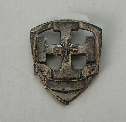 Vintage Antique Silver Tone La Hutte Scouts De France Boy Scouts Pin