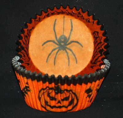 50 Halloween Print Cupcake Liners Baking Cups STANDARD SIZE BC-06-50 NEW