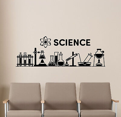 Science Wall Decal Chemistry Classroom Decor Education Poster Vinyl Sticker 40v - Science Decor