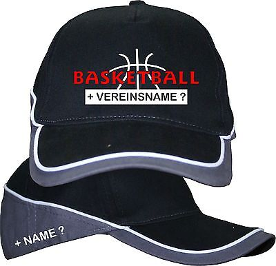 Basketball Sport Basecap Baseball Cap Kappe Mütze Logo  Name T-Shirt im Shop 3