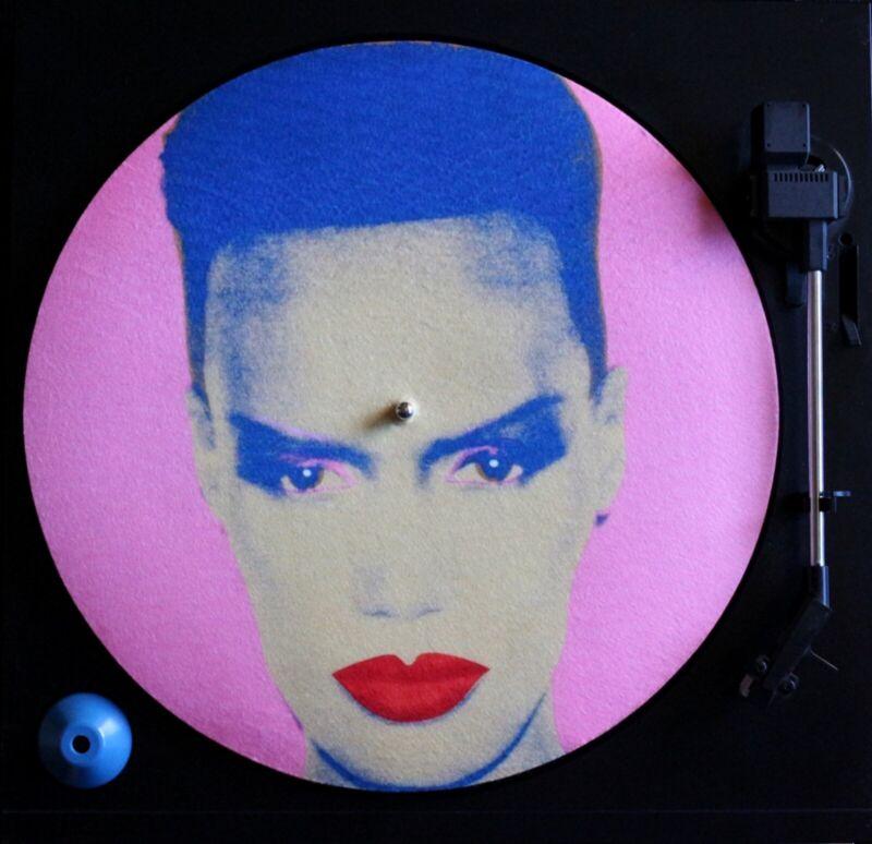 Grace Jones 12 inch Turntable Slipmat DJ Andy Warhol