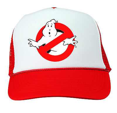 GHOSTBUSTERS HAT Halloween Costume RED Trucker Cap Adjustable Funny 80s Group  - Funny Group Costumes