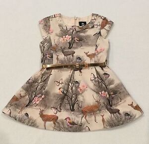 Girls Sista Deer / Woodlands Print Dress with Belt from Target Size 1 Keswick West Torrens Area Preview