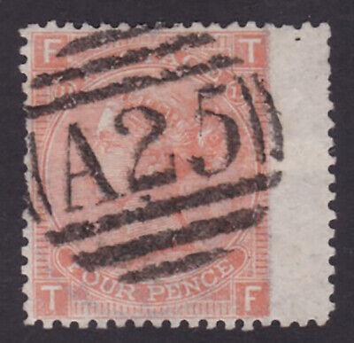 GB. QV. SG 94, 4d vermillion, plate 11. Used abroad, Malta.