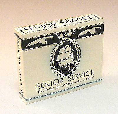1:12 Scale Empty Senior Service 20 Cigarette Packet Dolls House Miniature Bar