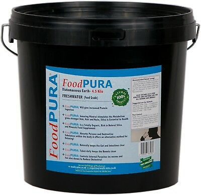 Food PURA® 4.5KG Food Grade CODEX Diatomaceous Earth DE Human Pure Fresh Water