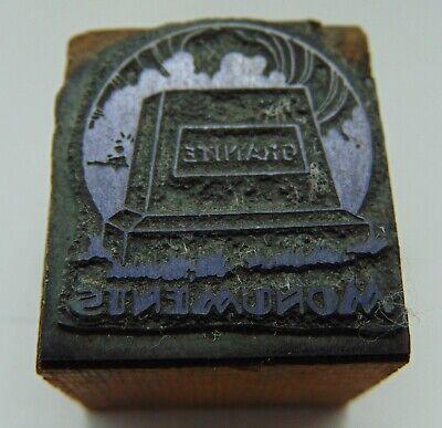 Printing Letterpress Printers Block Granite Monuments