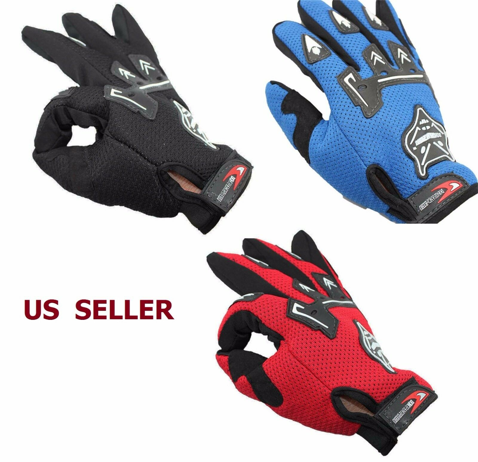 Full Finger Cycling Gloves Men Shockproof MTB Bike Bicycle F