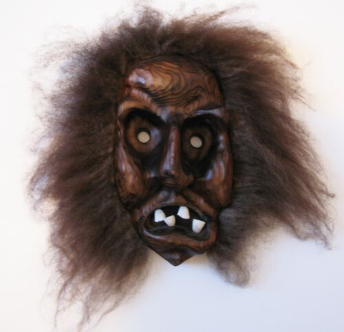 VINTAGE WITCO MID CENTURY TIKI HEAD CARVED WOOD MASK 3-D SCULPTURE BEST EVER